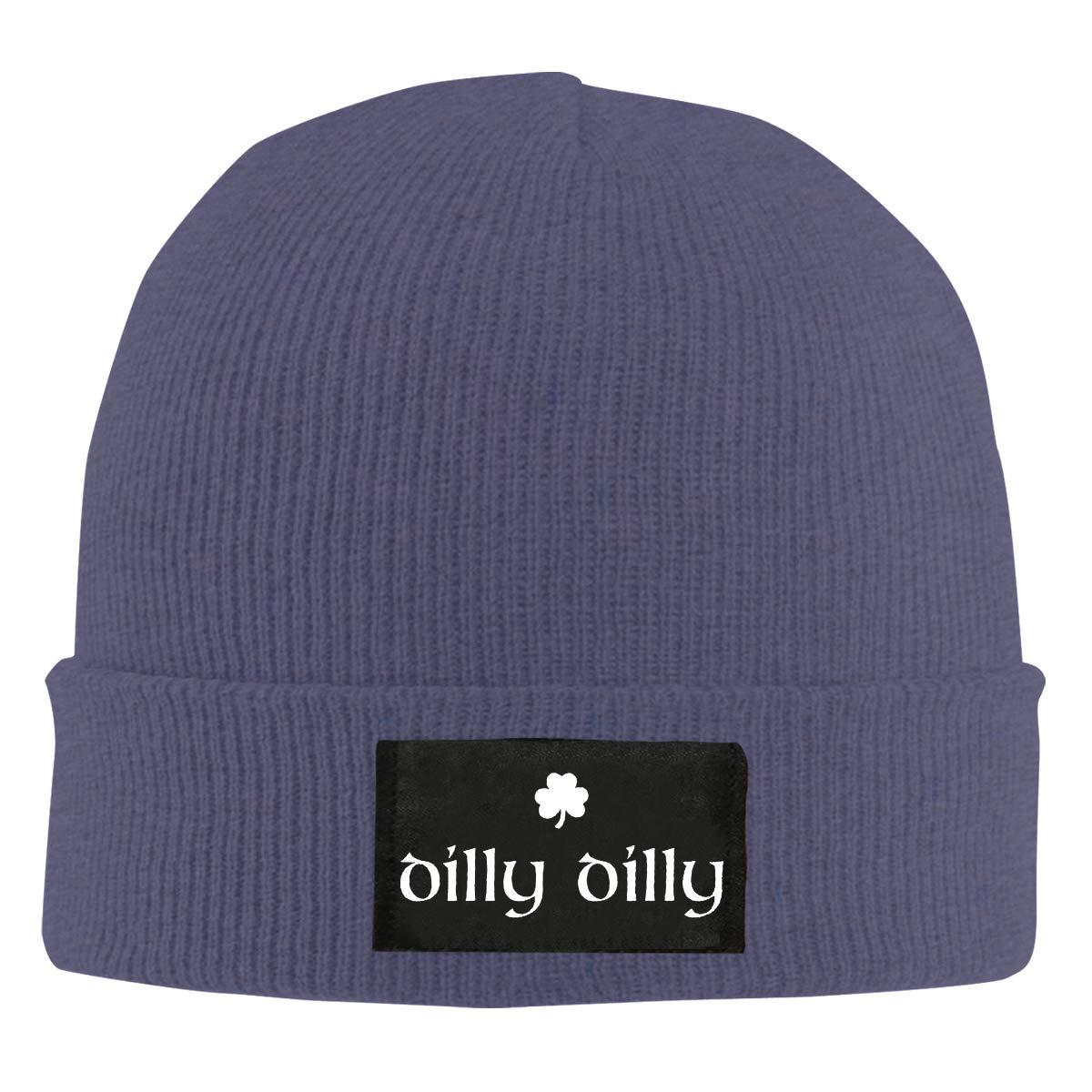 Dilly Dilly Logo Unisex Warm Winter Hat Knit Beanie Skull Cap Cuff Beanie Hat Winter Hats