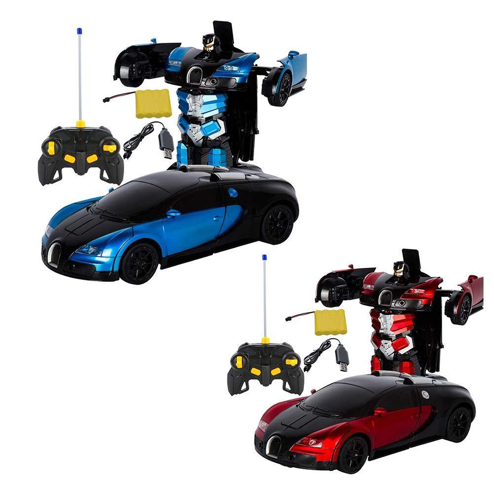 Waroomss T/él/écommande Robot Transformer RC T/él/écommande Robot Transformer Bugatti Rambo Voiture Robot Jouet Mod/èle De Voiture /Électrique avec T/él/écommande