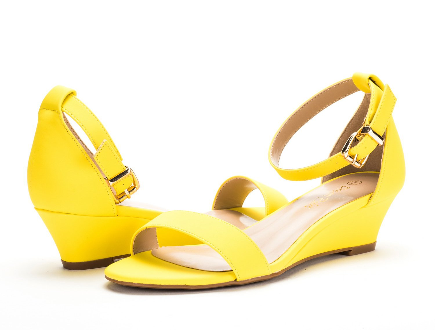 77f74b019d037 DREAM PAIRS Womens Ingrid Ankle Strap Low Wedge Sandals