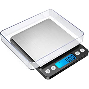 ORIA Digital Food Kitchen Scale, 1.1lbs 500g Max, Highly Accurate Multifunction Food Scale, Electronic Smart Scale