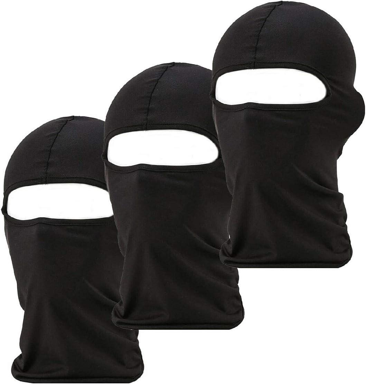 2 Pack Men Balaclava Black Face Mask Lightweight Motorcycle Warmer Ski