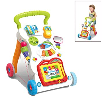 LJXWYQ Andador para bebé,Patrón Múltiple, Sentar & Jugar, Música ...