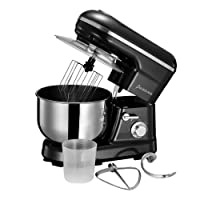 Electric Food Stand Mixer 1200W 3-in-1 Beater/Whisk/Dough Hook with 5 Litre Stainless Steel Bowl and Splash Guard