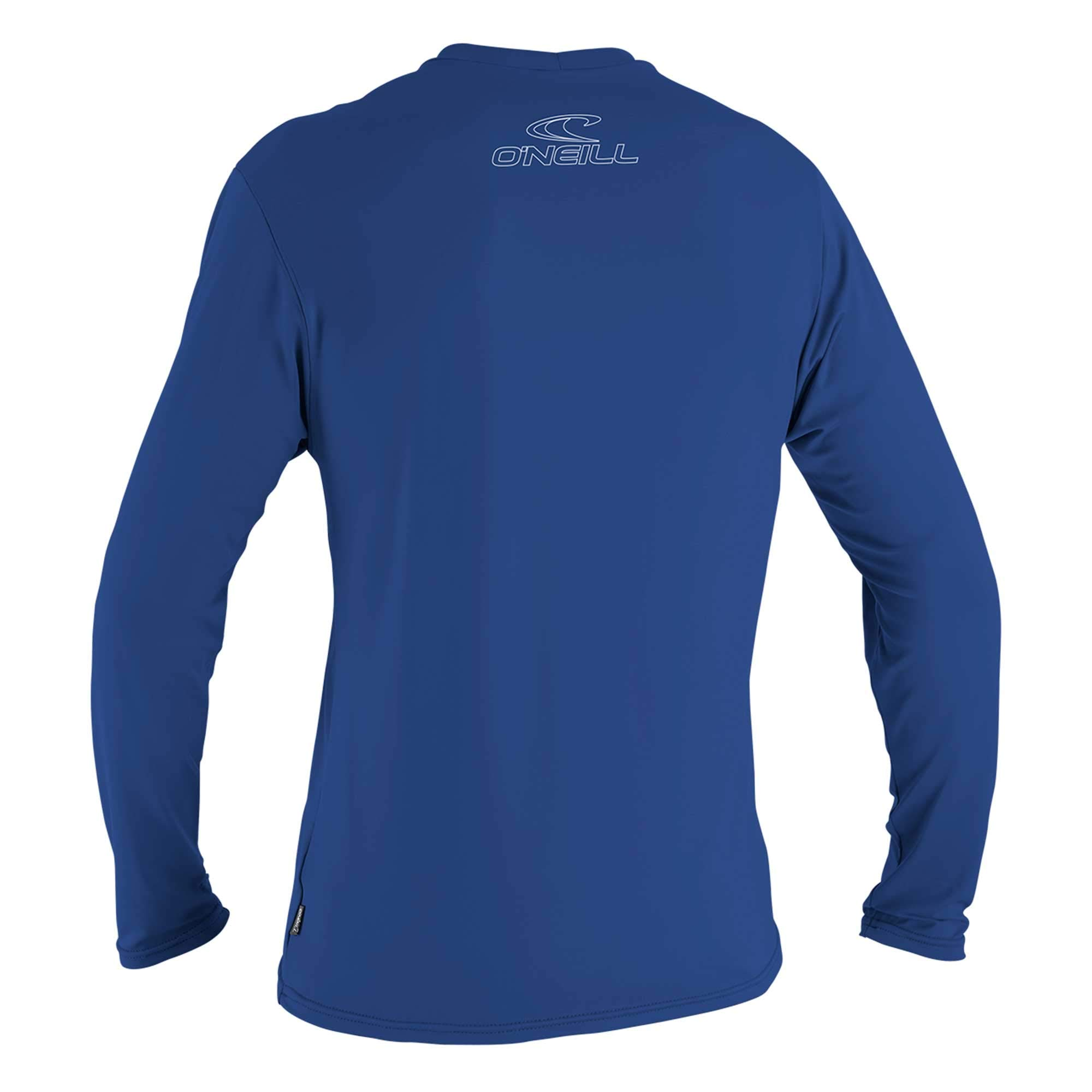 O'Neill Wetsuits Wetsuits UV Sun Protection Mens Basic Skins Long Sleeve Tee Sun Shirt Rash Guard, Pacific, Small by O'Neill Wetsuits (Image #3)