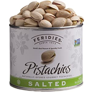 FERIDIES Salted Pistachios (In Shell) - 9oz Vaccum Can