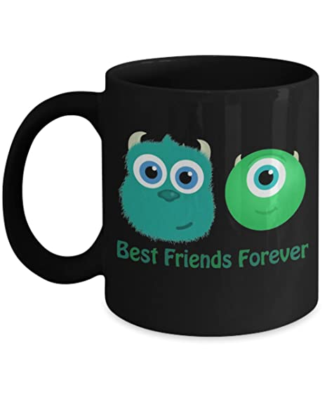 amazon com best friends forever mike and sully coffee mugs a