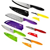 ZYLISS 6 Piece Kitchen Knife Set with Sheath Covers