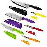 Zyliss 厨房刀 6 件套,带护套,不锈钢 多种颜色 100 E920144U