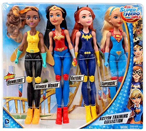 DC Comics DC Super Hero Girls Action Training Collection 11-Inch Doll 4-Pack [Bumble Bee, Wonder Woman, Batgirl & Supergirl]