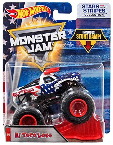 Hot Wheels Monster Jam 2018 Stars and Stripes El Toro Loco 1:64 Scale