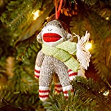 Sock Monkey W/Antlers Ornament