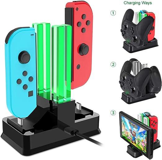 Onedream Carga Compatible para Nintendo Switch, Base de Cargador ...