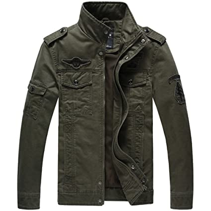 Military Style Army Jackets Coats Chaqueta Hombre Veste Cazadoras Hombre. at Amazon Mens Clothing store: