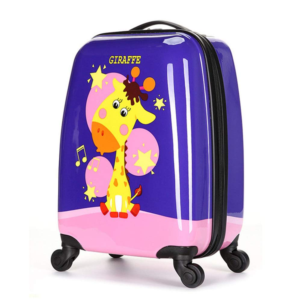 20428ae96f79 Children Rolling Travel Suitcase Animal Cartoon Giraffe Kids Carry On with  Universal Wheels 18 in Travel Luggage Case (Giraffe)