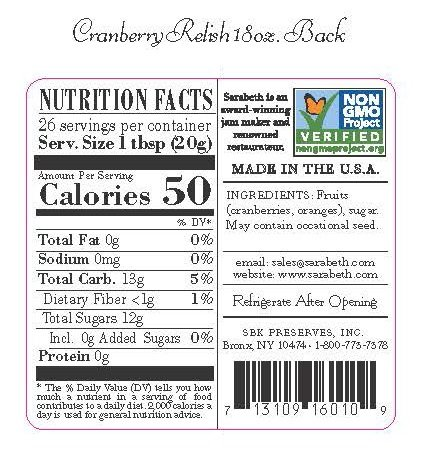 Sarabeth's Legendary Cranberry Relish - 18 oz by Sarabeth's (Image #3)