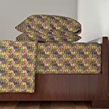 Roostery African 3pc Sheet Set African Beauty by Amy G Twin Sheet Set made with