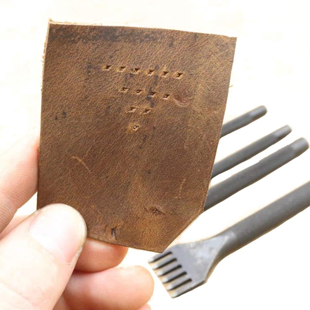 kits de bricolage diamant kits de bricolage trousses /à outils 3mm la/çage MINGZE Nouveau outil de bricolage en cuir couture perforations couture trous