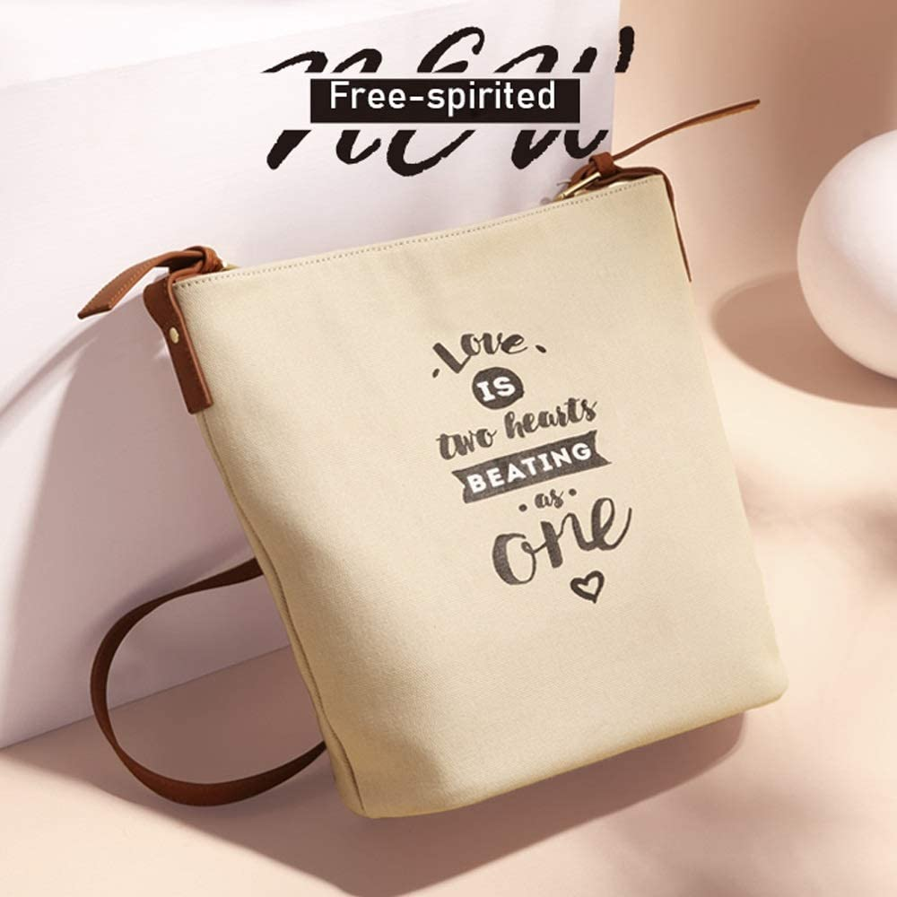 SYAODU package Vintage Canvas Bag for Ladies,Canvas Tote Bag with Zipper Closure Grocery Shopping Bag Shoulder Bag for Women Girls Students