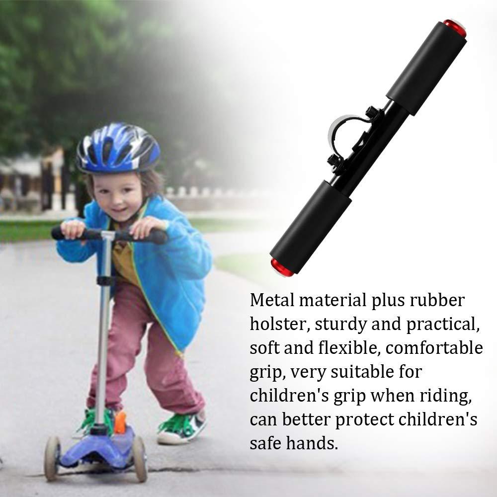48mm Manubrio per Bambini Multifunzione LED Flash Leva della Mano per Scooter Elettrico Xiaomi M365 Leslaur Accessori per Scooter elettrici in Metallo allaperto 270