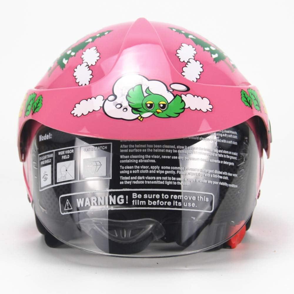 GYFY Cascos para niños Personalizados de Four Seasons Motos Harley Cascos de Seguridad para niños, Hombres y Mujeres, para bebés Cumplen con la certificación Dot,Pink
