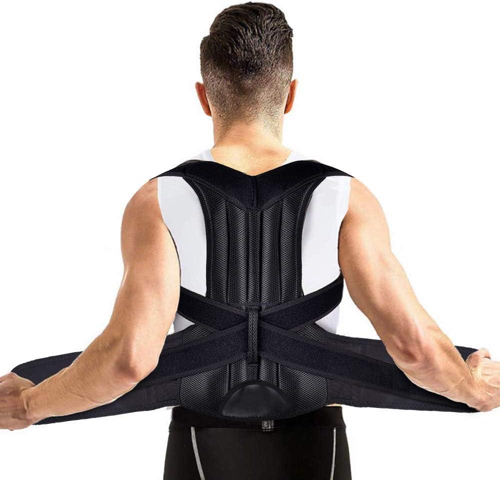 Corrector de Postura Espalda, MS.DEAR Cinturón Postura Ajustables Corrección Lumbar Apoyo para Hombres/Mujer, Enderezador de Espalda, Aliviar el dolor de Espalda y Hombro - Cintura 35.5