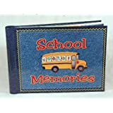 School Memories Keepsake Scrapbook Photo Album with Bonus Picture Frame!