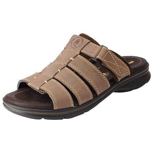 71929d480c1 Hush Puppies Men s Genuine Leather Outdoor Sandals  Buy Online at ...