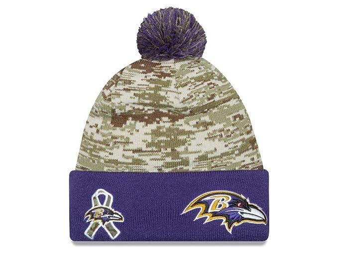 New Era Men s NFL 2015 Baltimore Ravens Salute to Service Knit Hat Digi  Camo Size One Size at Amazon Men s Clothing store  ff68b9c84