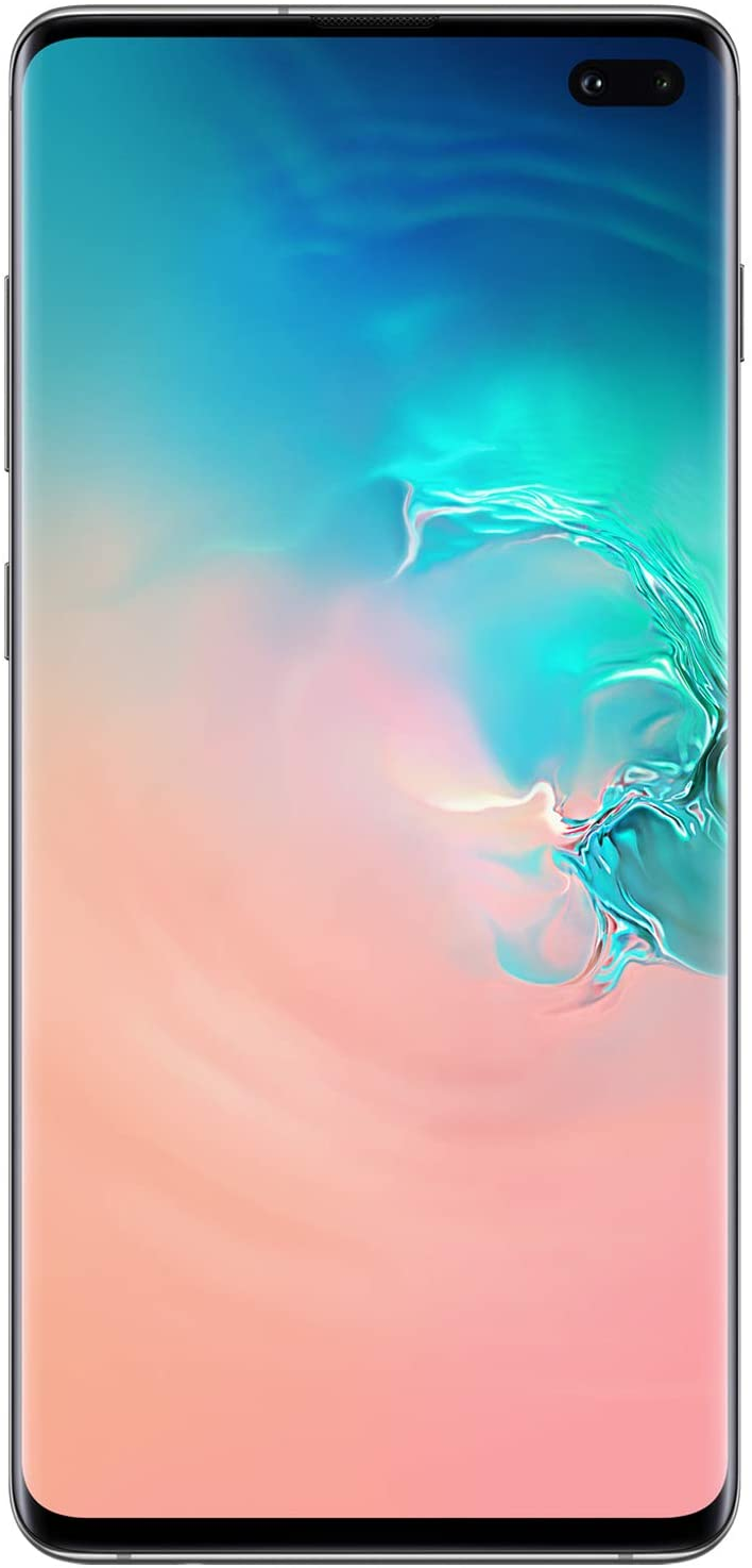 Samsung Galaxy S10+Factory Unlocked Android Cell Phone | US Version | 128GB of Storage | Fingerprint ID and Facial Recognition | Long-Lasting Battery | U.S. Warranty | Prism White