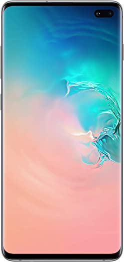 Samsung Galaxy S10+Factory Unlocked Android Cell Phone | US Version | 1TB of Storage | Fingerprint ID and Facial Recognition | Long-Lasting Battery | U.S. Warranty | Ceramic White