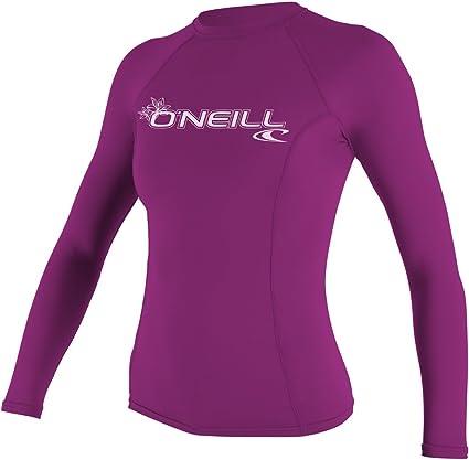 O'Neill Wetsuits Women's Basic Skins Long Sleeve Rash Guard Camisa Mujer
