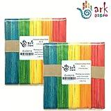 Baguettes pour bricolage 2 x 50 (naturel ou de couleur) Farbig