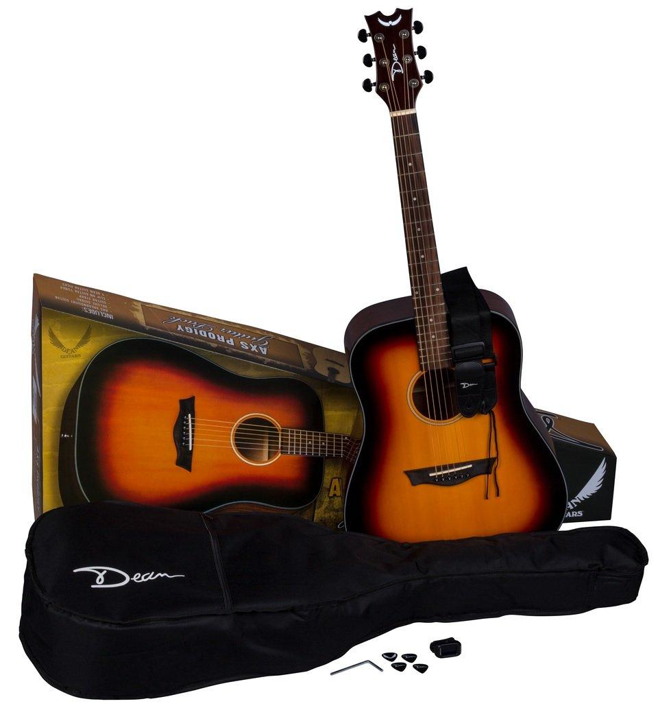 Dean AX PDY TSB PK Axs Prodigy Acoustic Guitar Pack, Tobacco Sunburst