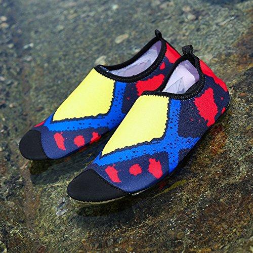 Quick Aqua Lightweight Beach Dry Flexible Men's Women's Multifunctional COSDN Yellow Skin Breathable Shoes Yzqgwz