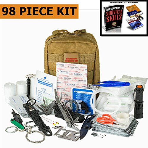 Emergency Survival Kit | Ultimate 98-in-1 Outdoor Multi-Tools for Camping, Hiking, Hunting...