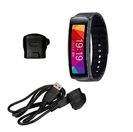 Sannysis® Base de Cargador Cargador para Samsung R350 Gear Fit elegante reloj