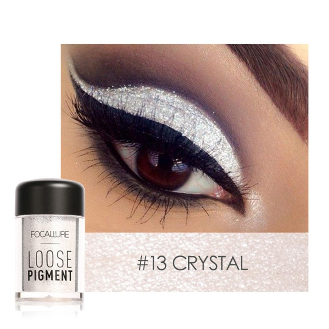 Cosmetic Eyeshadow ,Beikoard, Professional Fashion Focallure 12 Colors Eye Shadow Makeup Pearl Metallic Eyeshadow Palette Makeup Available (A)