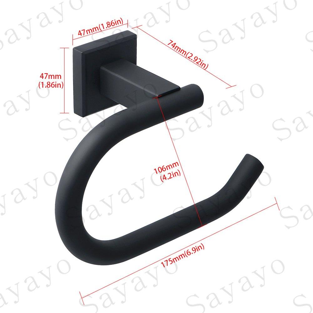 EGK8012-B Sayayo Porte rouleau de papier toilette mural Acier inoxydable Noir mat
