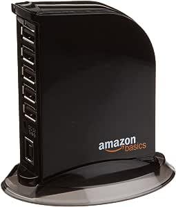 AmazonBasics 7 Port USB 2.0 Hub Tower with 5V/4A Power Adapter