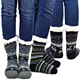 thermal sock for woman - Teehee Womens Soft Premium Thermal Double Layer Crew Socks 3-Pack (Deer)