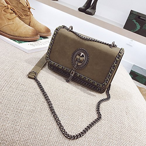 Invierno Saco incense Hombro Bag Messenger Bolsos Light Invierno Brown Bolsos Woman Frosted Pequeños green De qxIwIda