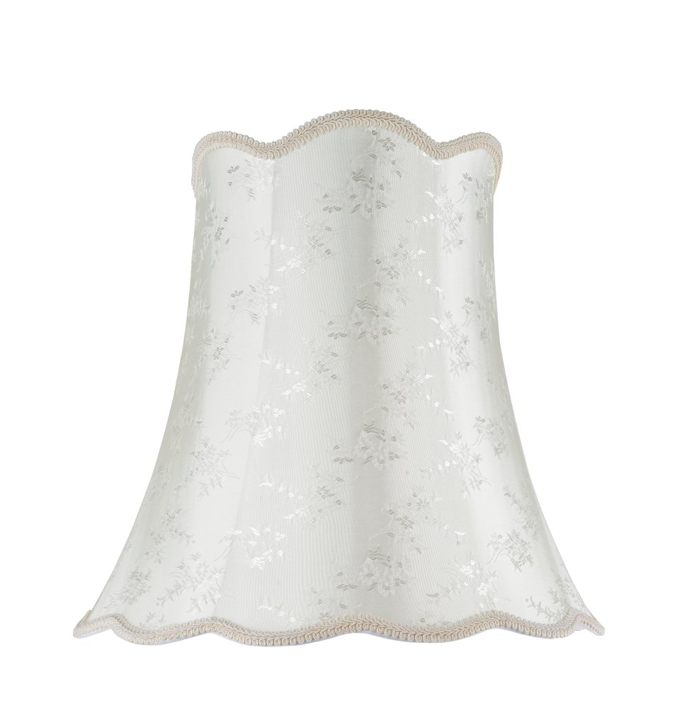 Aspen Creative 34002 Transitional Scallop Bell Shape Spider Construction Lamp Shade in Ivory, 16'' wide (10'' x 16'' x 15'')