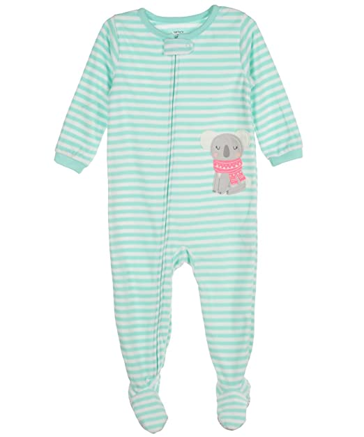 1a9887715 Amazon.com  Carters Striped Fleece Footie (Baby) - Koala-18 Months ...