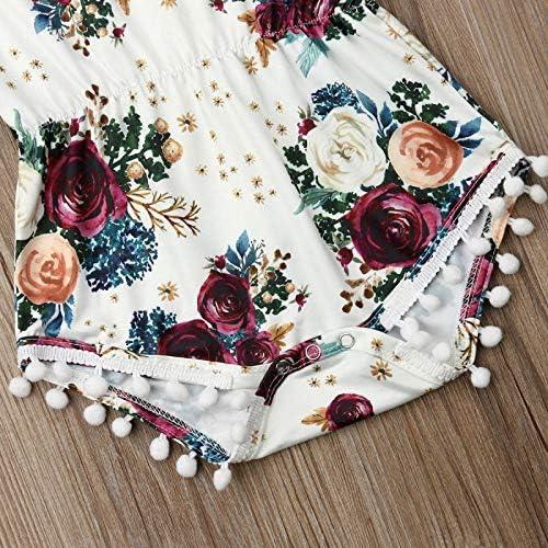 LIXIUQING Blumenbodysuit für Mädchen mit Kopfschmuckset