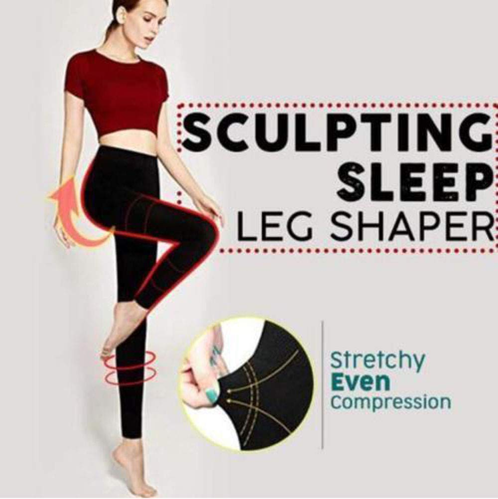 Stretchy Sculpting Sleep Leg Shaper Pants Legging Socks Women Thigh Slimmer Waist Breathable Bodysuit Shaper Panties Trousers (M, Black) by KONFA (Image #3)