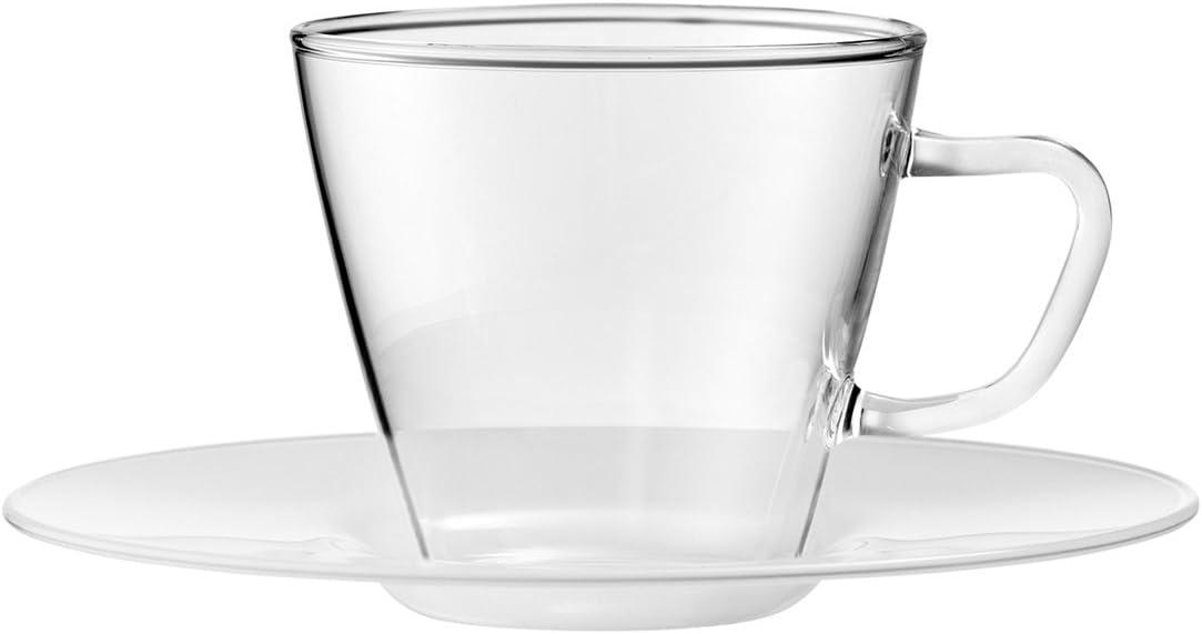 Glas 0.1 x 0.1 x 5 cm Bohemia Cristal 093 012 114 PLAY OF COLORS 2er-Set Espressotassen aus Borosilikatglas mit Unterteller aus Kunststoff Trinkglas 2-Einheiten Gold
