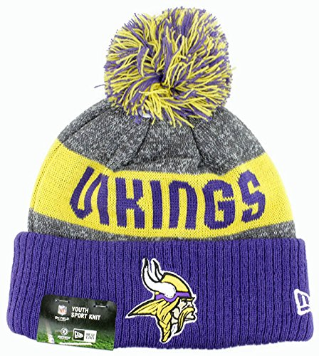 YOUTH (8-18 YRS) Authentic NFL Football Beanie Hats 2016 New Era Official 3e4ac4db9