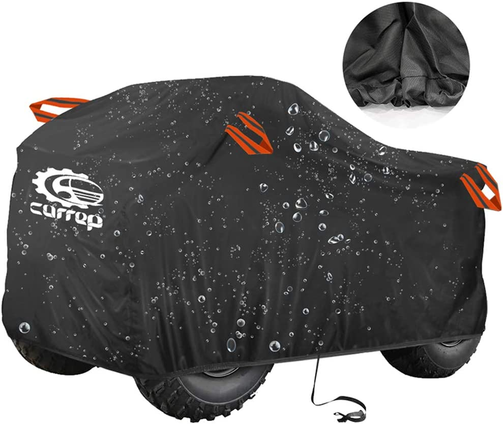 XL Waterproof ATV Cover ATV Quad Windproof Covers ATC Rain Cover UV Protects 4 Wheeler for Polaris Sportsman Outlaw Yamaha Grizzly Wolverine YFZ Honda Sportrax TRX Kawasaki