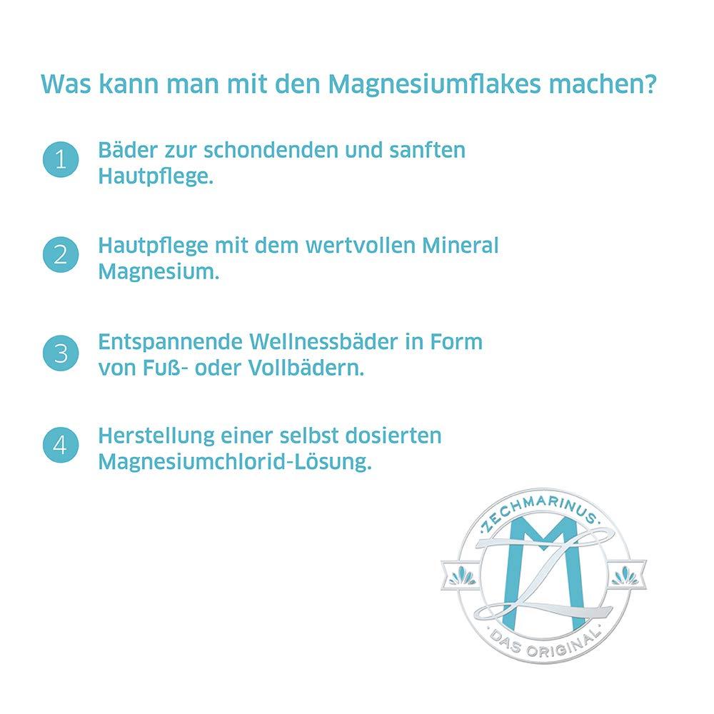 Magnesio Flakes ZECH piedra magnoleum 4 kg para magnesio de baño o como Magnesio de etc adicional - Cloruro de magnesio Hexa hydrat - copos de magnesio ...