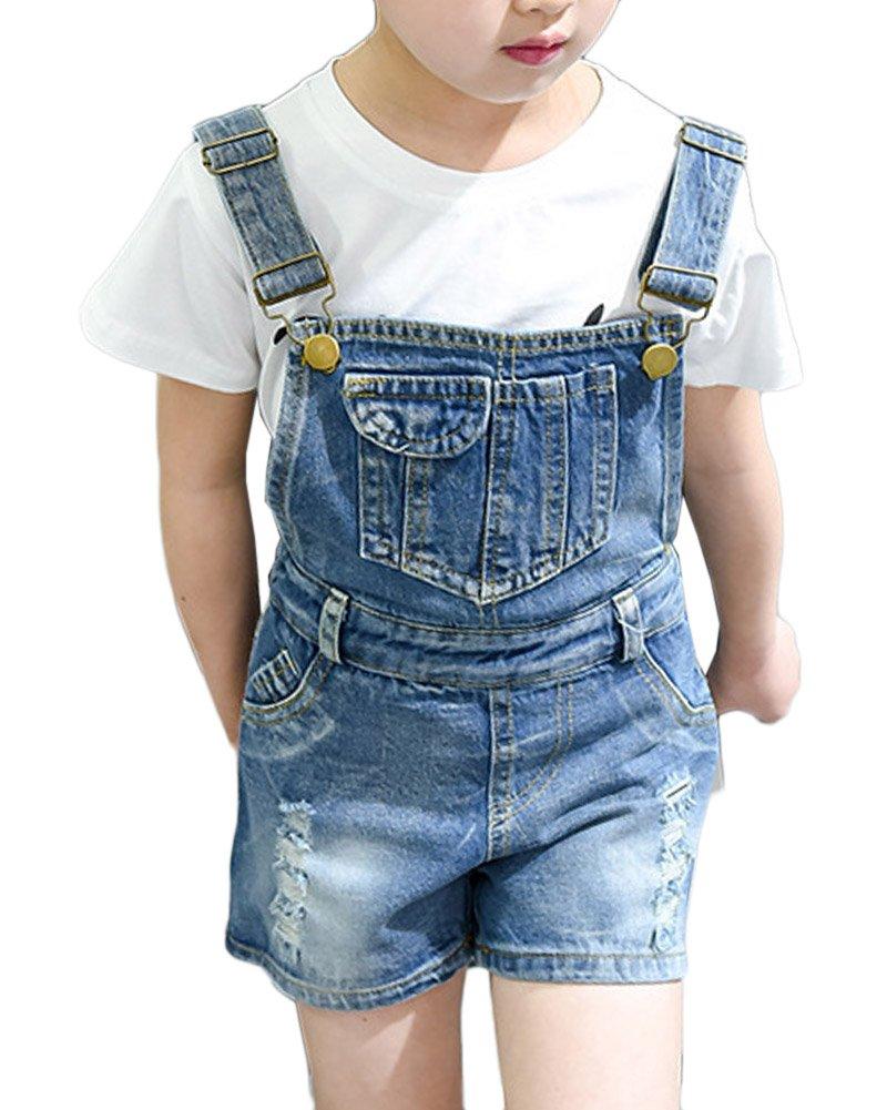 Ragazze Ragazzi Salopette Di Jeans Corta Denim Overall Tuta Monopezzi E Tutine Denim Jumpsuit